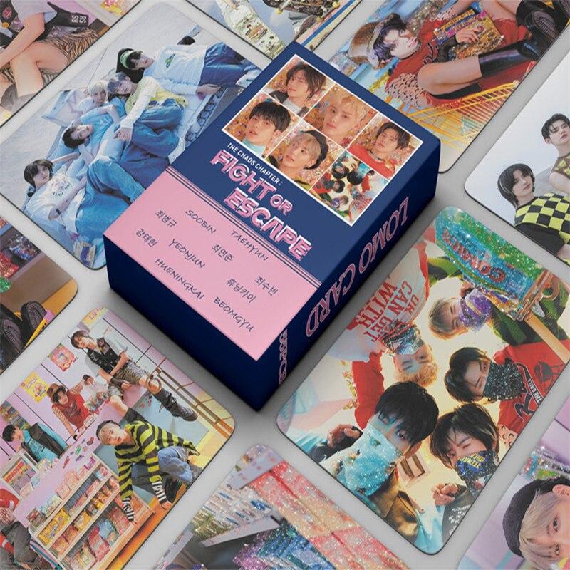 55 шт./компл. TXT маленькие карты для борьбы или выхода, маленькие карты завтра X вместе, маленькие карты Lomo, Подарочный веер, коллекция вееров