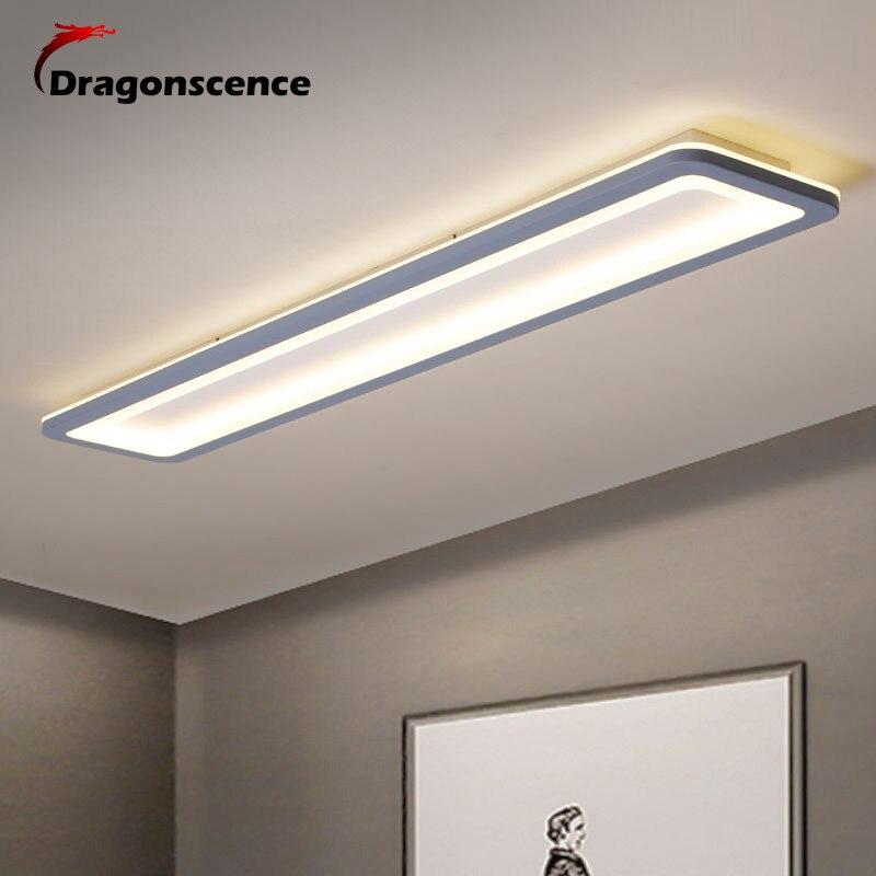 Dragonscence-مصباح سقف Led حديث لغرفة النوم والمطبخ ، شريط شبكي طويل ، تركيبات إضاءة