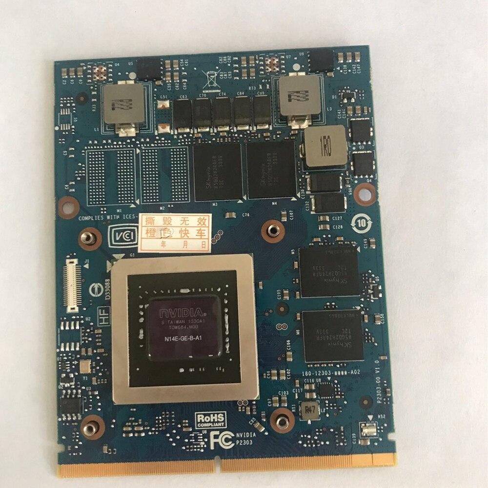 Para GTX765M GTX 765M GDDR5 Tarjeta gráfica de video de 2 GB N14E-GE-B-A1 Dell Alienware M15X M17X R3 r4 r5 R6 M18X