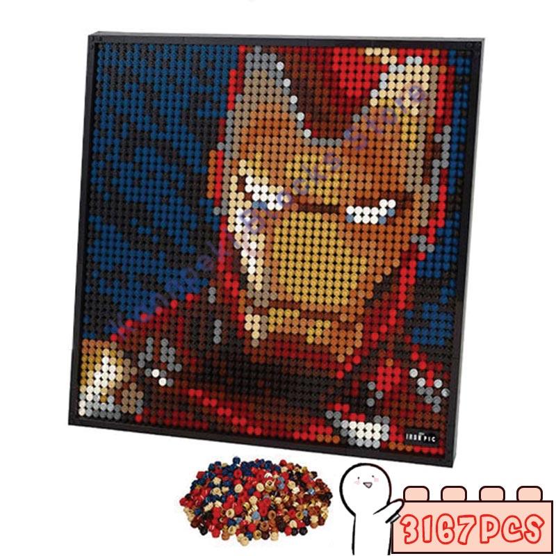 AliExpress - 3167Pcs Pixel Art Mosaic Painting MOC Sets DIY Iron Avatar Building Blocks Bricks Gift Toys ART Decorative 3 In 1 Hero 4 Type
