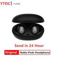 Original nubia Pods Immersive wireless Bluetooth 5.0 headphones with Qualcomm® aptX™ HD audio and microphone chargin