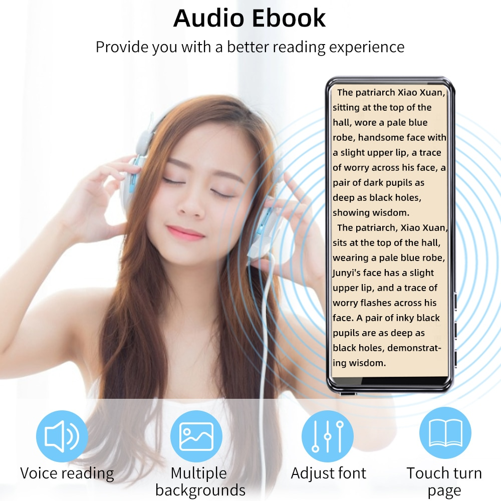 Deelife Touch Screen MP3 Portable Music Player With 3.5 Inch FM Radio Video Built-In Speaker Music Players Bluetooth 5.0 enlarge