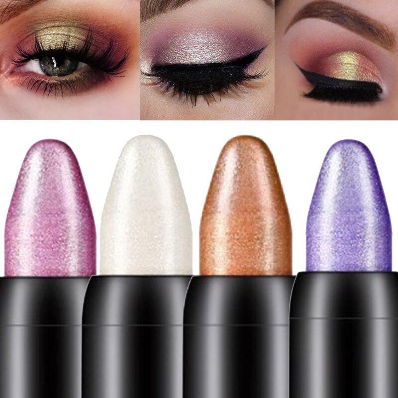 AliExpress - 16 colors color pearlescent eyeliner lying silkworm eye shadow pen lip liner long-lasting waterproof non-smudge pearlescent pen