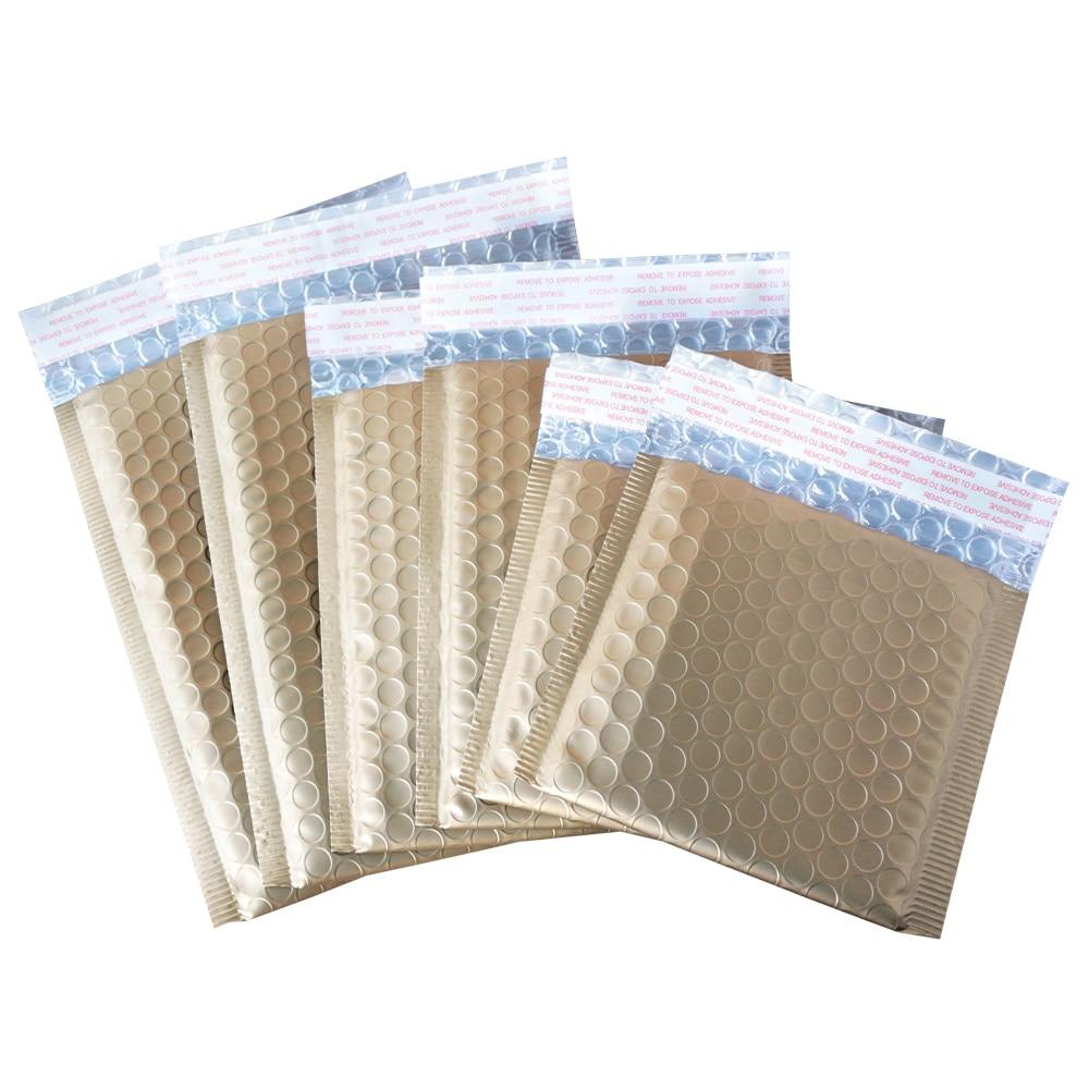 Mail bag envelope, waterproof foam bag, matte gold, shockproof bag, 50 for each package