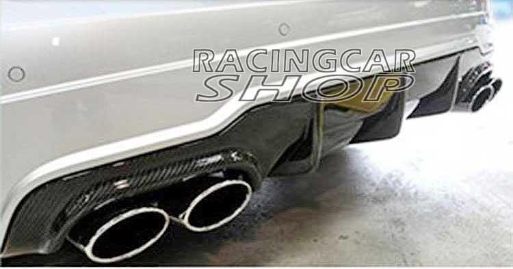 Fibra de carbono Real trasero difusor de labio para Benz C204 COUPE W204 sedán C250 C63 C200 AMG deporte parachoques 2012-2014 M015