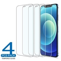 4pcs tempered glass for iphone 11 12 pro xs max x xr 7 8 6s plus se 2020 screen protector for iphone 12 mini 11 pro max glass