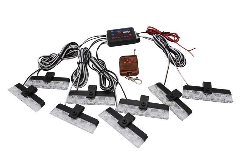 16 LED 24 32 GRILLE LIGHT BEACON FLASHING WARNING EMERGENCY STROBE AMBER LAMP YELLOW Remote Control