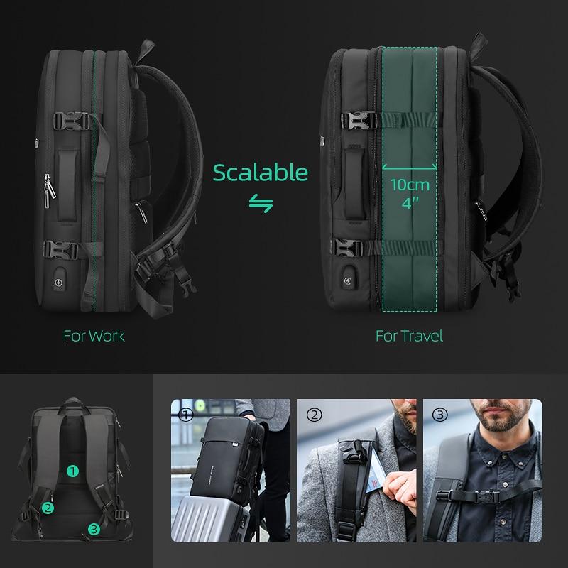 Beg galas lelaki muat beg 17 inci USB mengecas beg anti-pencurian - Beg galas - Foto 4