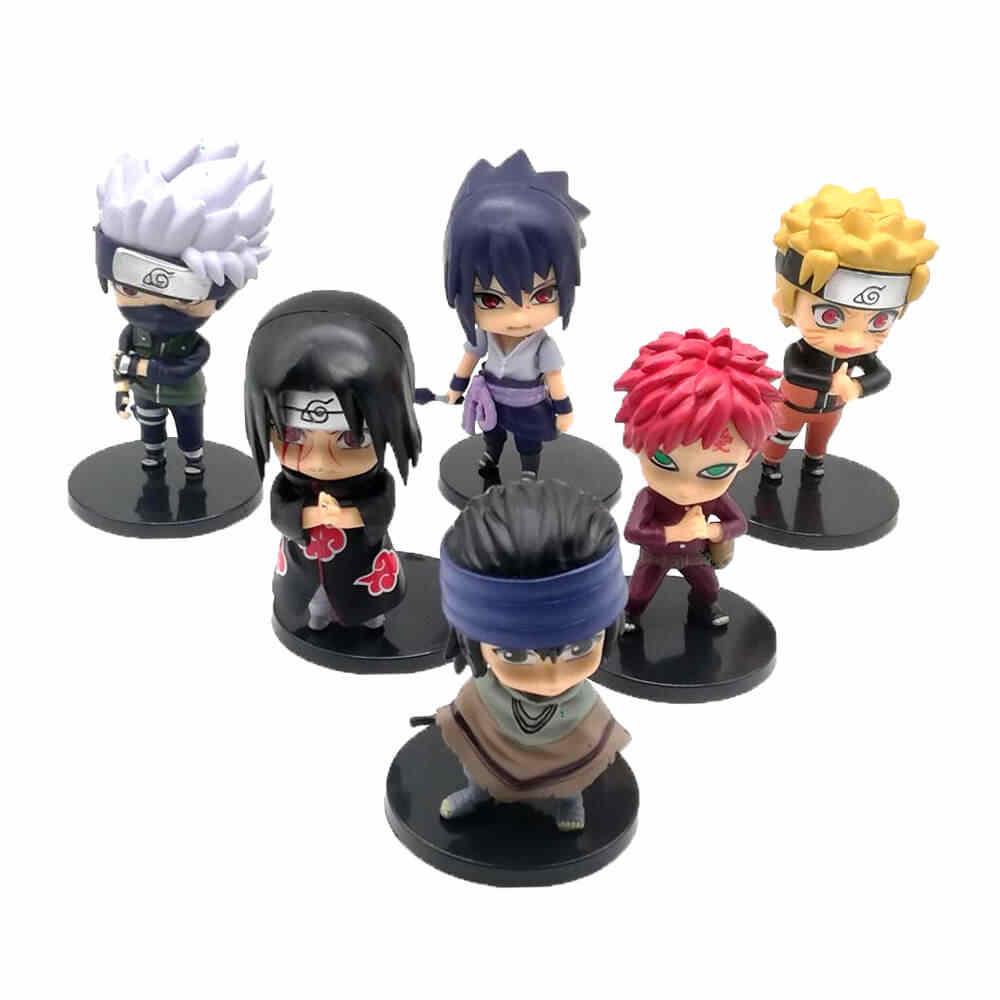 6 Unids Lote Anime Naruto Figura De Juguete Sasuke Kakashi Sakura Gaara Itachi Obito Madara Asesino Mini Abeja Modelo Muñeca Para Los Niños Aliexpress