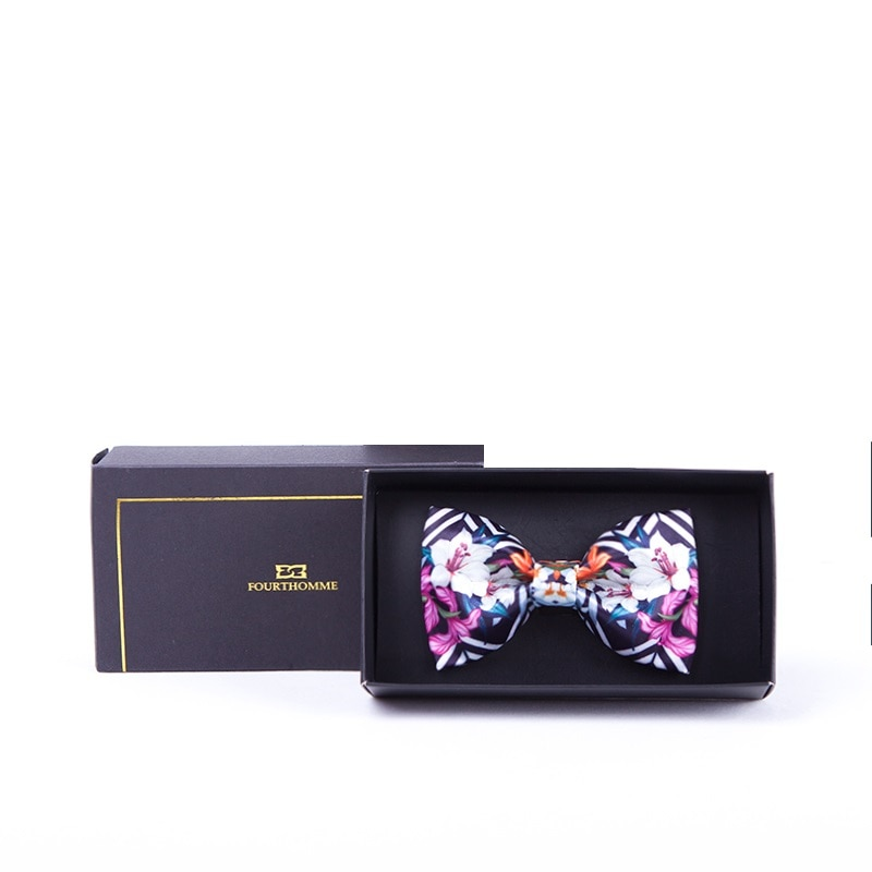 2020 New Style Flora Print Men Bowtie Great For Party High Quality Polester Bowties for Men