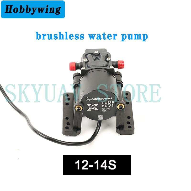 Hobbywing-مضخة مياه بدون فرش ، مضخة مدمجة 5 لتر ، 10 أمبير 14S V1 ، للطائرة بدون طيار ، الزراعة ، الطائرات بدون طيار