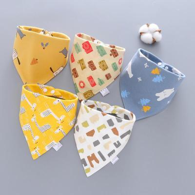 5 шт./лот Детские банданы Слюнявчики шарф Слюнявчики для новорожденных мальчиков и девочек Мультяшные треугольные хлопковые Слюнявчики