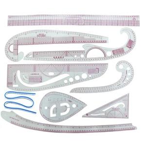 9pcs/set Curve Sew Dressmaking Metric Ruler Multifunction Sewing Drawing Ruler Tailor Measuring  Sewing DIY Tool Set