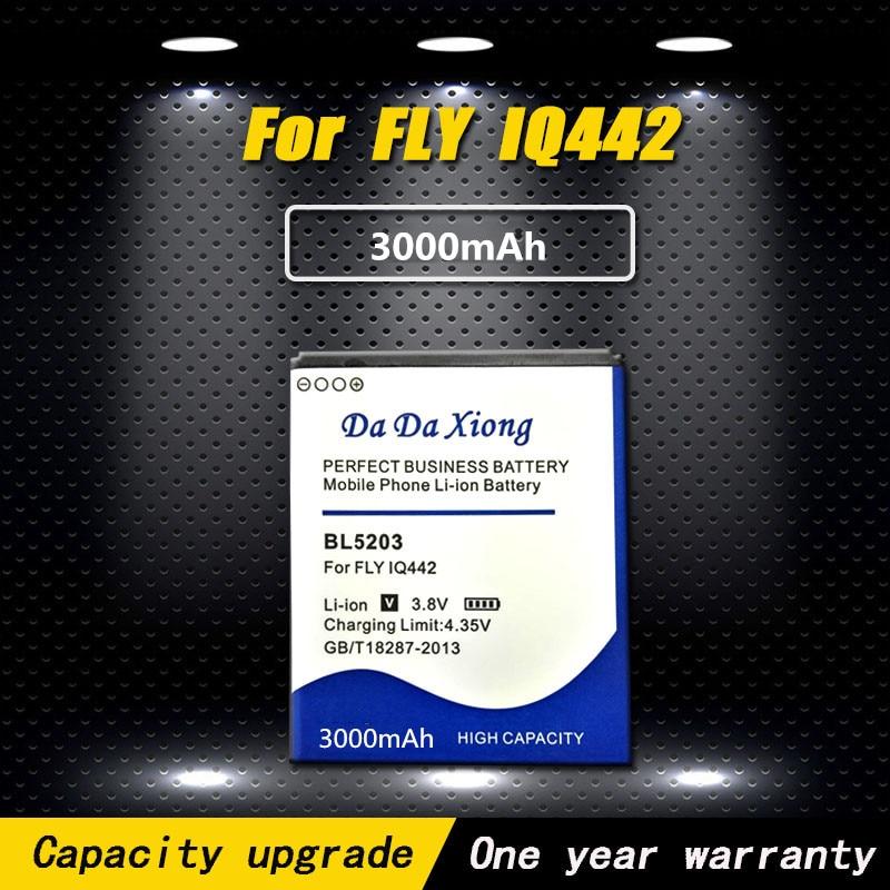 3000mAh nuevo modelo [BL5203] Li-Ion teléfono batería para Fly IQ442 Quad milagro 2 de la batería del teléfono