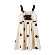2020 Neue Sommer Große Mädchen Kleid Polka Dot Bogen Prinzessin Party Kleider Für Mädchen 6 8 10 12 14 16 jahre Teenager Mädchen Urlaub Kleider