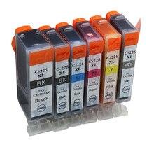 Cartouches dencre pgi 225xl cli 226xl remplacement pour Canon PIXMA encre IX6520 IP4820 IP4920 MX882 MX892 MG6110 imprimante jet dencre