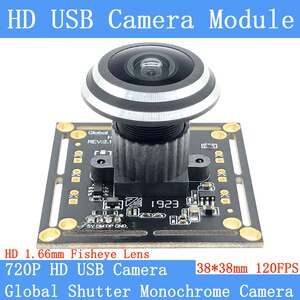 HD 1280*720P 120FPS MJPEG USB Camera Module Global Shutter High Speed OTG UVC Linux USB Webcam Fisheye Surveillance Webcam