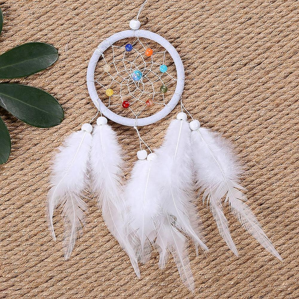 Dream Catcher Feather Pendant Home Decoration Bedroom Decor Feather Ornaments Girls Room Decor Creative Art Gifts Hot Sale