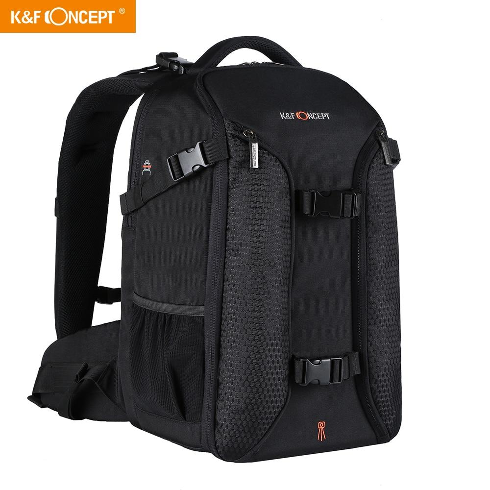 K & F Concept-حقيبة ظهر للكاميرا الاحترافية ، مناسبة لأجهزة الكمبيوتر المحمول مقاس 15.6 بوصة ، سعة كبيرة ، حقيبة تصوير نايلون مقاومة للماء لكاميرا ...