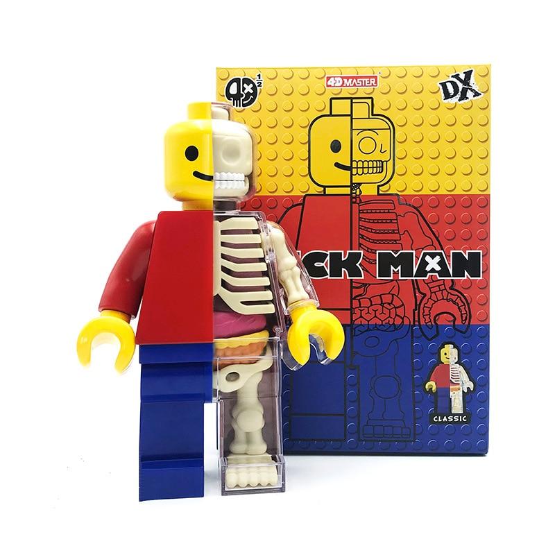 Big 4d Brick Man Human Transparent Perspective Anatomical Skeleton Bone Model Puzzle Assembled Medical Toy