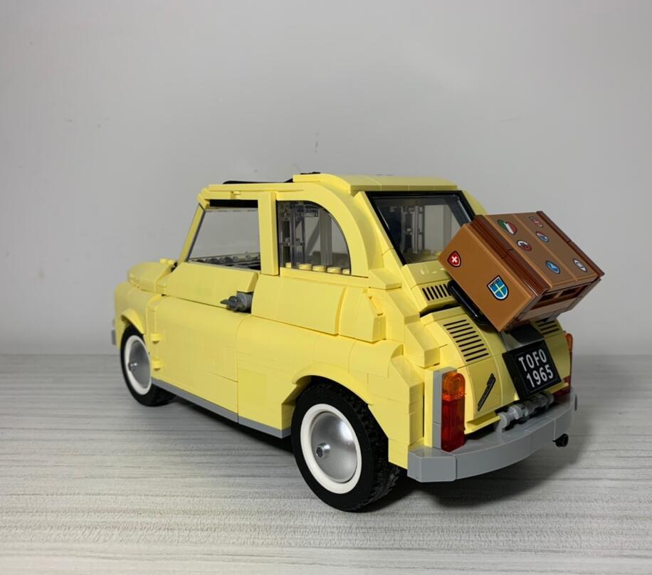 10271 960pcs Building Blocks Compatible  FIATed 500 City Car Creator Series Model Children Kids Christmas Gift Toys For Children