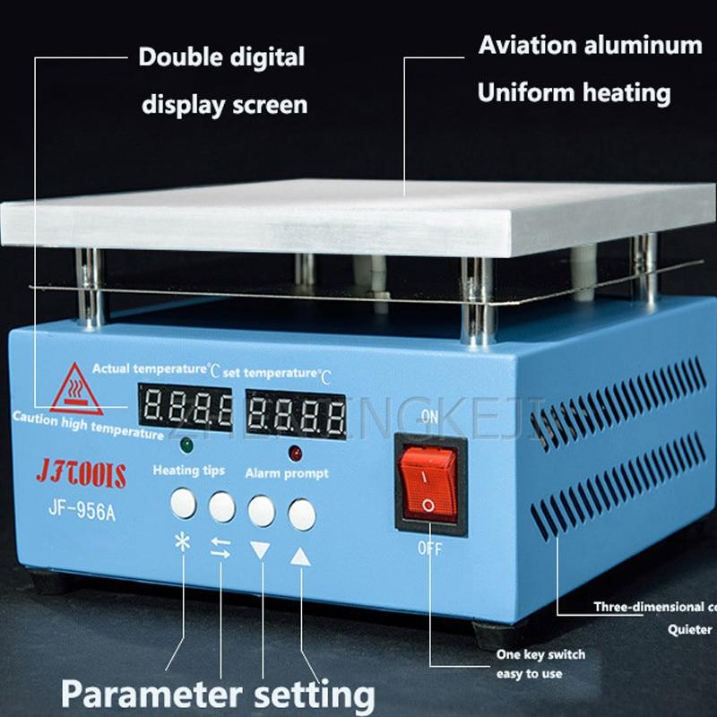 Double Digital Display Constant Temperature Heating Table Aviation Aluminum CPU Temperature Control Integrated Heating Platform