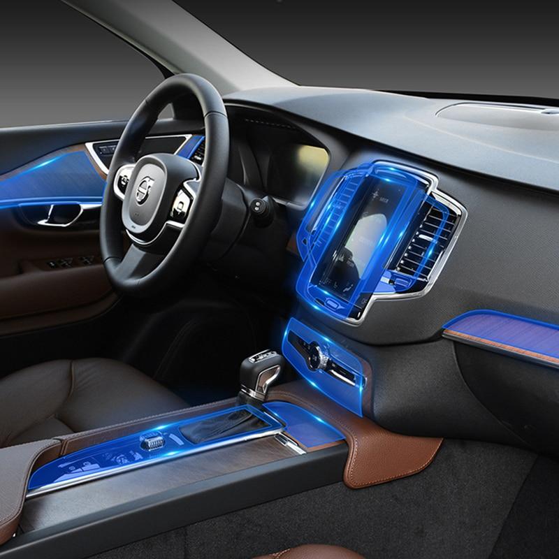 For Volvo S90 2016 2017 2018 2019 TPU Car Dashboard Screen Navigation Transparent Protective Film Sticker Auto Accessories