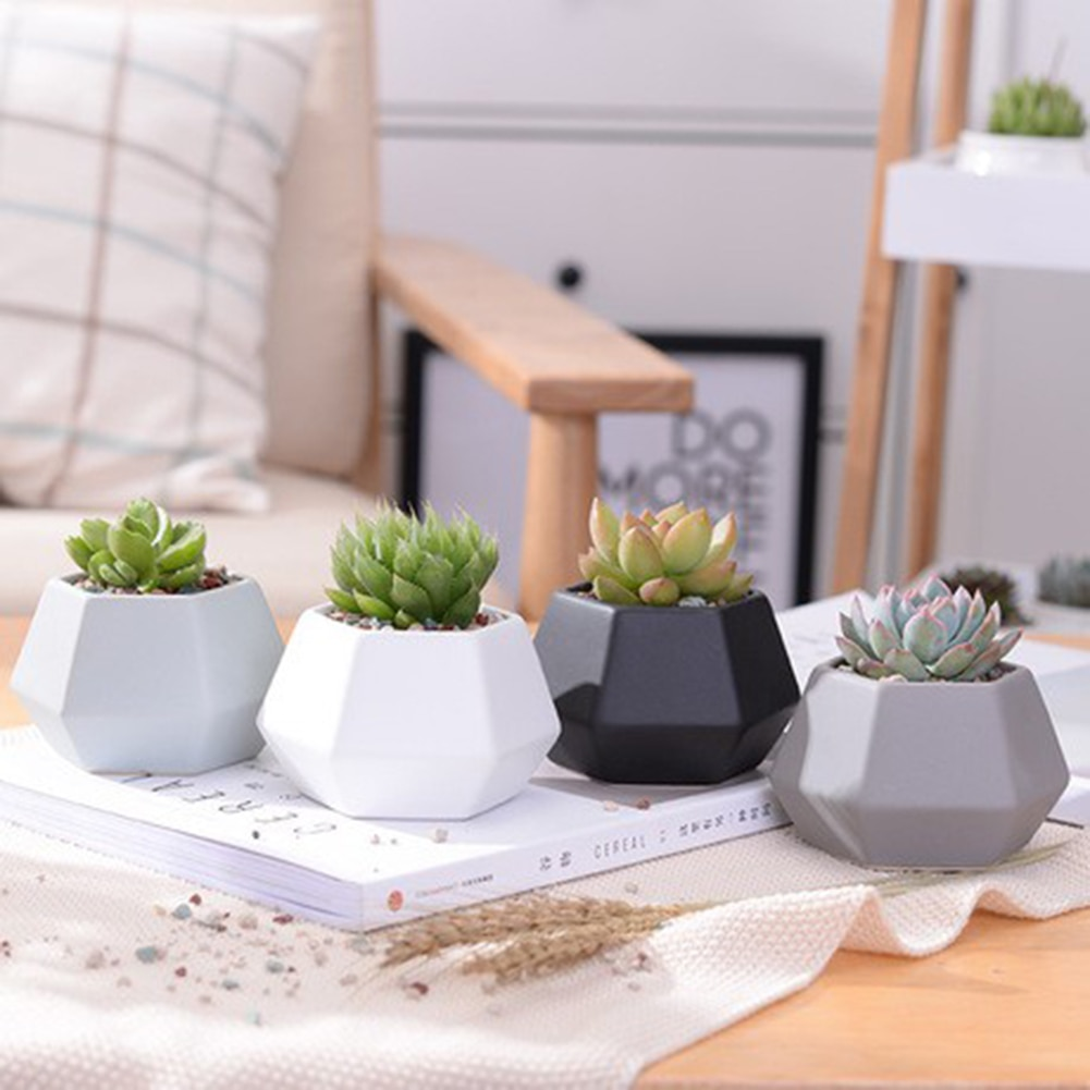 Moldes de silicone 3d reutilizáveis para resina de cola epoxy suculenta flor planta pote concreto cimento argila molde resina vela sabão que faz o molde