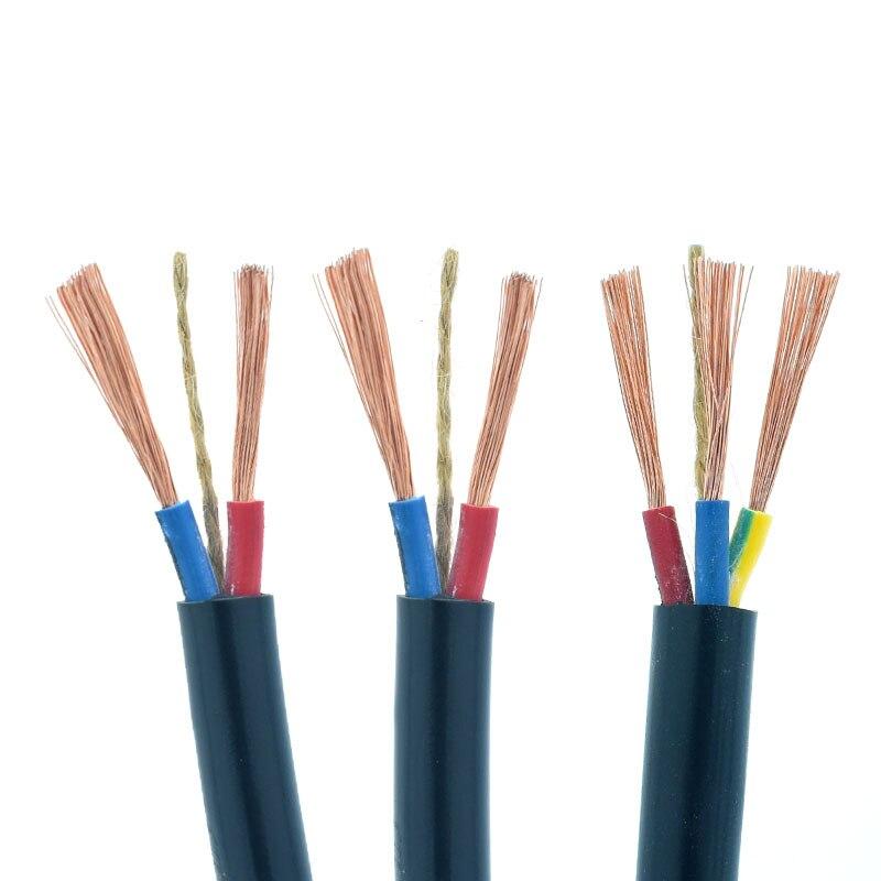 10 metros RVV Metro Cable y Cable 2 Core 3 Core 1/1,5/2,5/4mm impermeable cobre revestido Cable de alimentación de aluminio Cable de funda