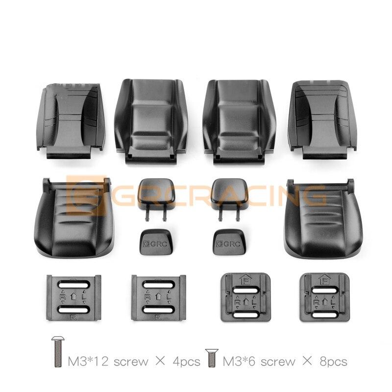 2pcs Plastic Cab Multi-directional Adjustable Seat for 1/10 RC Crawler Car Axial SCX10 Wraith Traxxas Trx4 D90 D110 BRONCO TRX6 enlarge