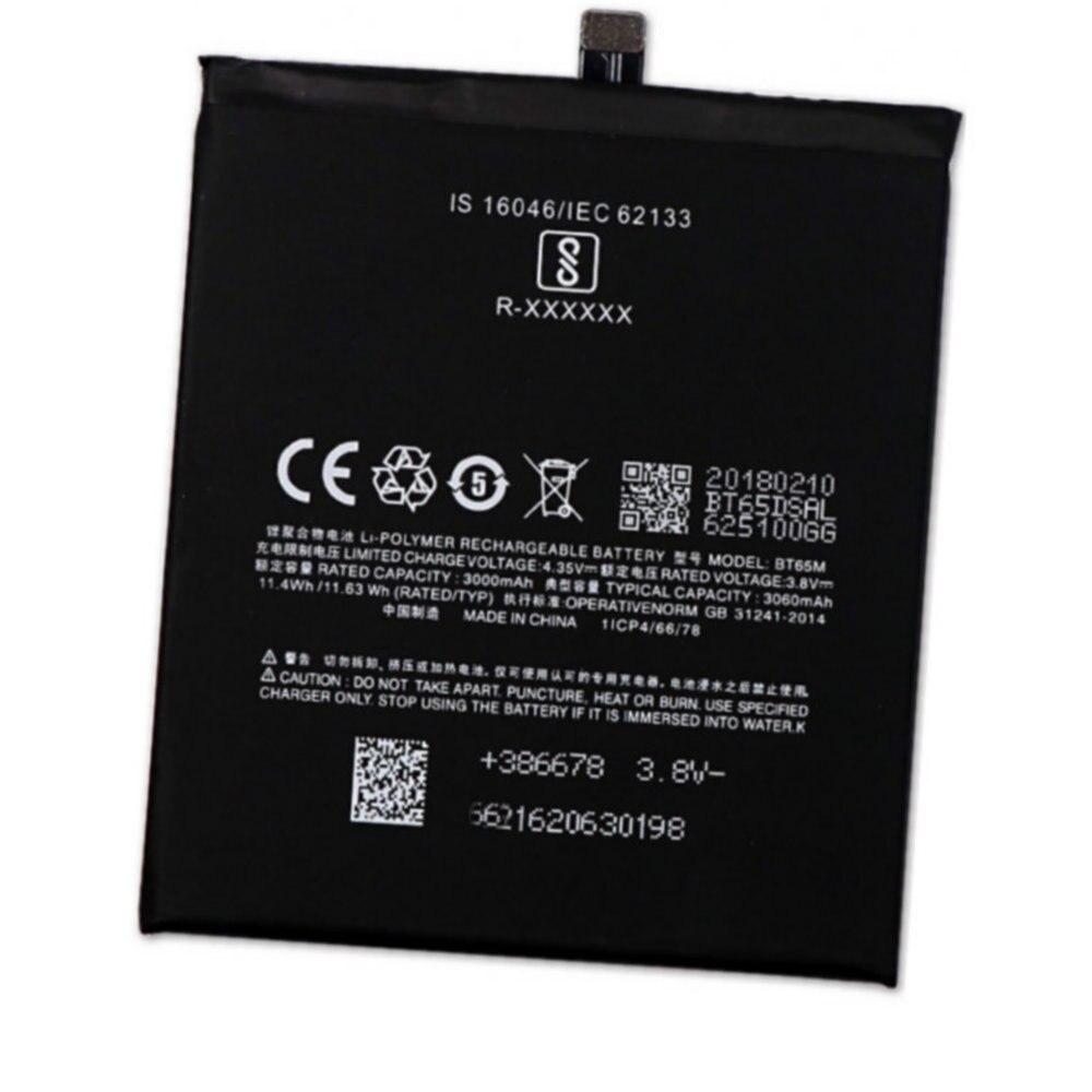 Batería Original BT65M, 3060mah, 3,8 v, 11,63wh, para baterías Meizu MX6 mx6