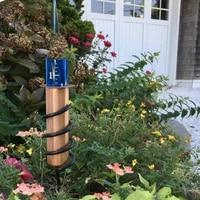 metal rain gauge floating copper rain gauge garden water gauge and repair kit save water protect plants garden decorative