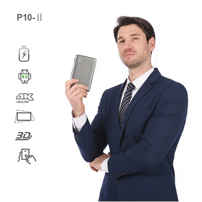 Vivicine-جهاز عرض ذكي صغير P10 4K ، Android 9.0 ، 3D ، Wifi ، LED ، لألعاب الفيديو