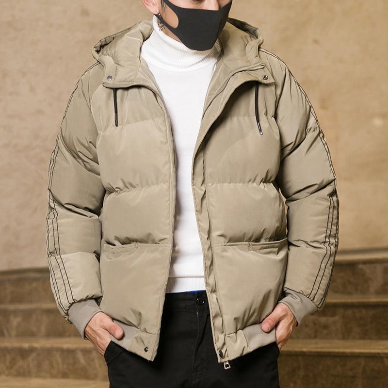 Новинка 2021, Мужская зимняя стеганая куртка, Мужская зимняя стеганая куртка с капюшоном для молодых студентов, одежда в Корейском стиле