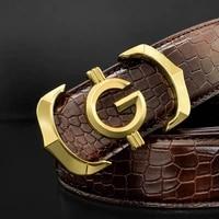 designer belt mens high quality genuine leather fashion g belt mens luxury brand cowhide casual brown belt mens belt
