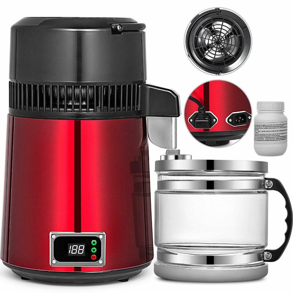 جهاز تقطير المياه الكهربائي للأسنان ، جهاز تقطير المياه بالكحول 4 لتر ، 750 واط ، للاستخدام المنزلي والمختبر ، شحن مجاني