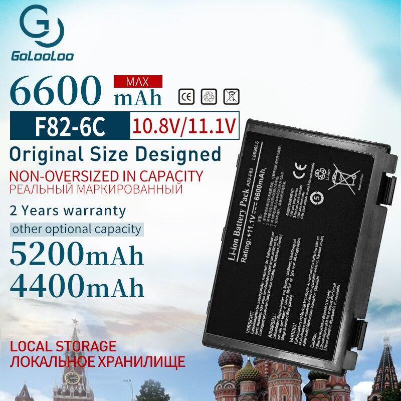 6600mAh nuevo batería de portátil para Asus A32-F82 a32-f52 F82 K40 K40in...