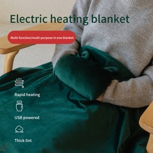 Manta eléctrica con calefacción por usb para el cuerpo, Manta con calentador caliente, alfombras, 70CM x 110CM