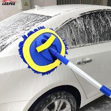 Щетка для мытья автомобиля, телескопическая швабра с длинной ручкой, щетка для чистки автомобиля, шенилловая щетка, автомобильные аксессуары