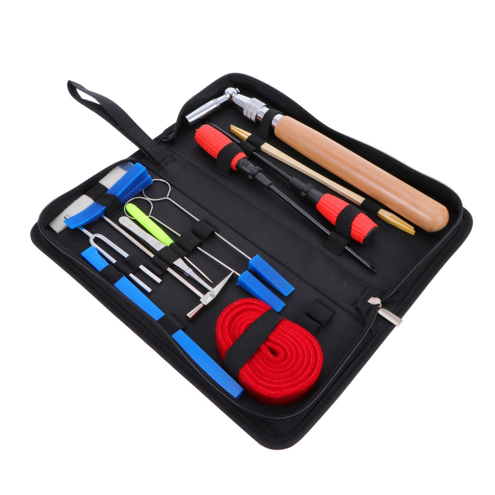1Piano Tuning Tools Set Tuning Fork Mute Hammer Tuning Accessories Professional Tuning Hammer Lever Mute Set With Case  - buy with discount