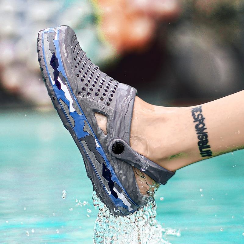 CcharmiX męskie drewniaki Camo 2020 nowe męskie sandały letnie klapki plażowe mężczyźni Outdoor Casual Men sandały buty do wody męskie duże rozmiary