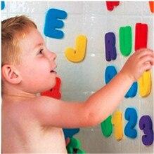 36 pièces/ensemble bébé enfants enfants jouet éducatif mousse lettres chiffres flottant salle de bain baignoire enfant jouet pour garçon fille cadeaux 2019 nouveau