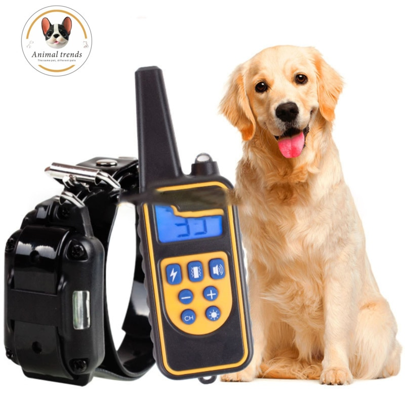 800m Electric Dog Training Collar Waterproof Rechargeable Remote Control Pet With LCD Display For All Size Bark-Stop Collars