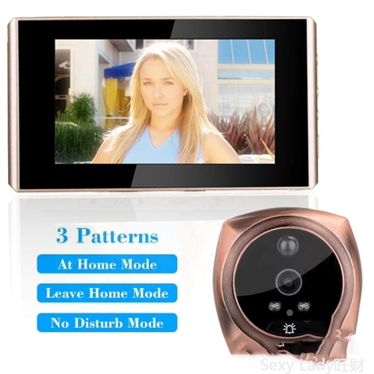 iHome5 Mirilla  Peephole Door Camera Video IP Doorbell IR PIR HD Camera Motion Detect Remotely Control
