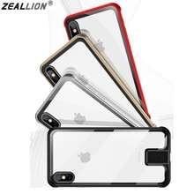Zeallion For Apple iPhone 7 8 Plus X XR XS Max Ultra Thin Push Pull Metal Frame with Tempered Glass
