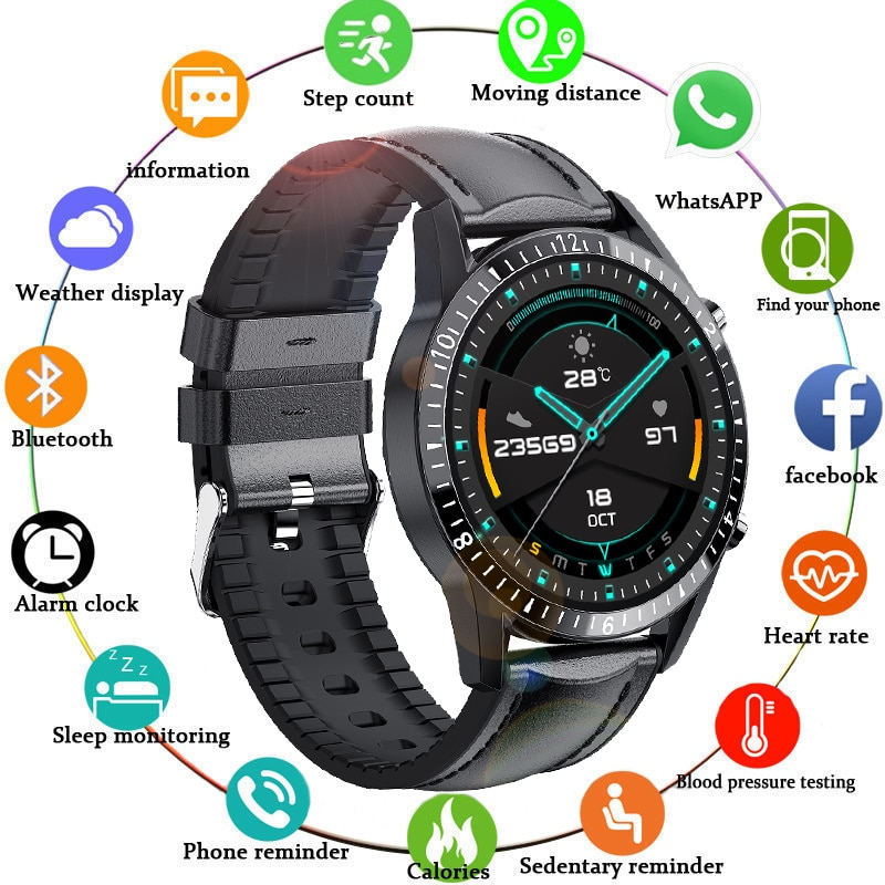 LIGE Bluetooth Phone Digital Watch Waterproof Sports Fitness Watch Health Tracker Weather Display 20