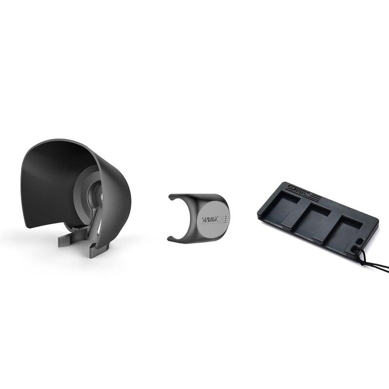 3in1 set lens anti-glare sunshade + lens cover + USB mobile phone adapter mini rocker storage box for dji osmo pocket 2 camera