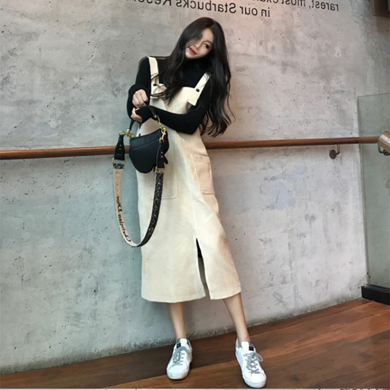 Suspender Skirt Women's Autumn Fried Street Graceful and Fashionable Autumn and Winter 2021new Western Style Youthful-Looking