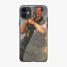 Arnold Schwarzenegger film étui pour iPhone 11 PRO MAX Coque brillant lisse verre trempé housse pour iPhone 11 Pro Max Coque Capa