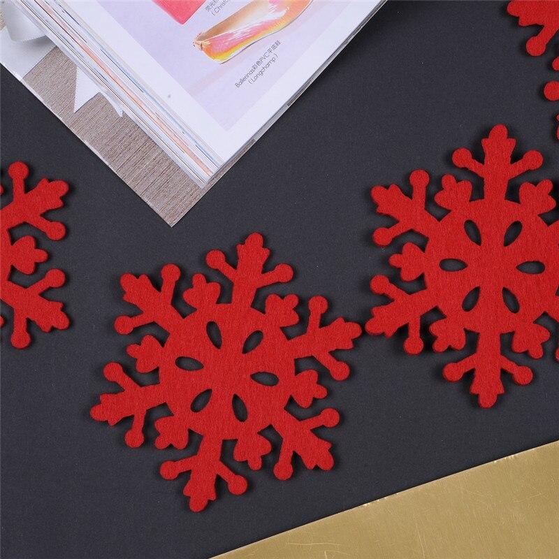 Rojo 8 unidades/bolsa, decoración navideña, posavasos para nieve, mesa de escritorio de interiores, cena, decoración para fiesta de Navidad, manteles individuales para té y café